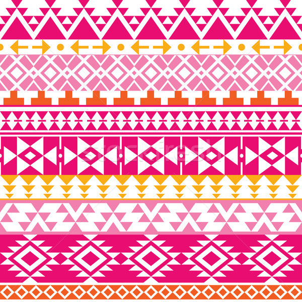 Seamless Navajo print, Aztec pattern, Tribal design Stock photo © RedKoala