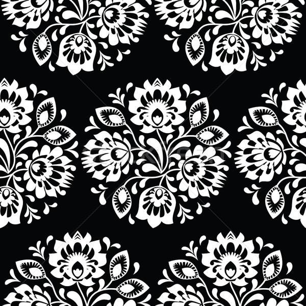 Seamless traditional floral Polish folk art pattern Stock photo © RedKoala