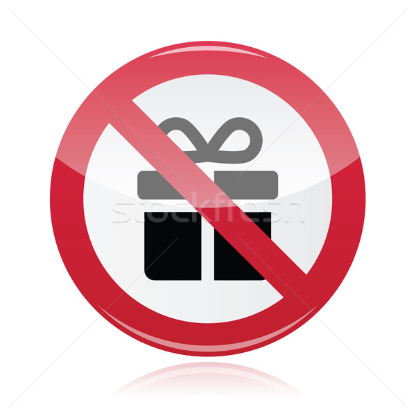 No presents red warning signs - vector Stock photo © RedKoala