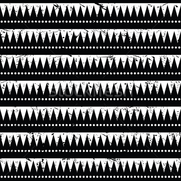Seamless aztec tribal pattern- grunge, retro style Stock photo © RedKoala