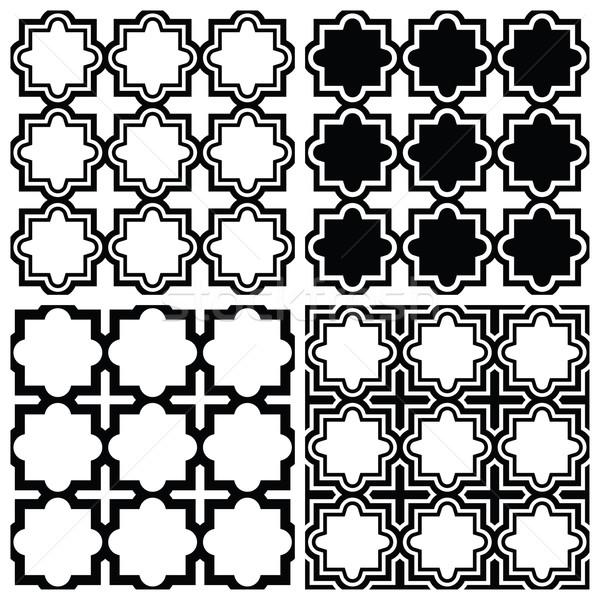 Arabic seamless pattern set - Islamic repetitive design Stock photo © RedKoala