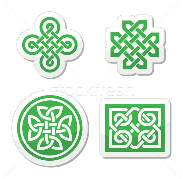 Celtic patronen vector ingesteld traditioneel symbolen Stockfoto © RedKoala