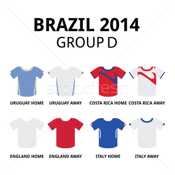 World Cup Brazil 2014 - group D teams football jerseys  Stock photo © RedKoala