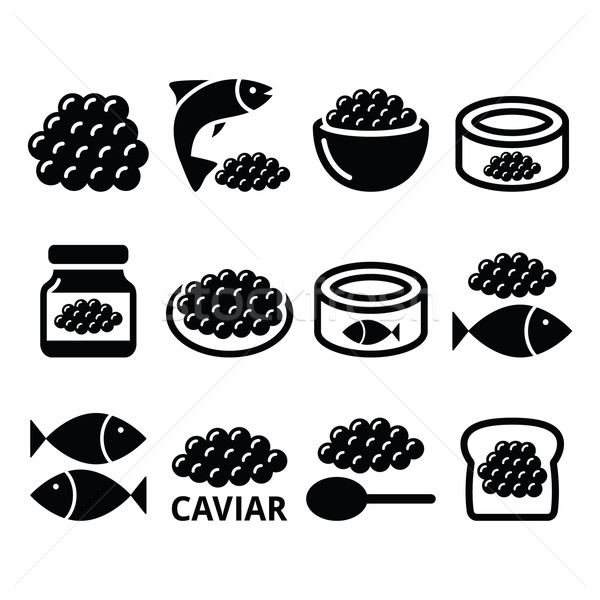 Caviar poissons oeufs alimentaire Photo stock © RedKoala