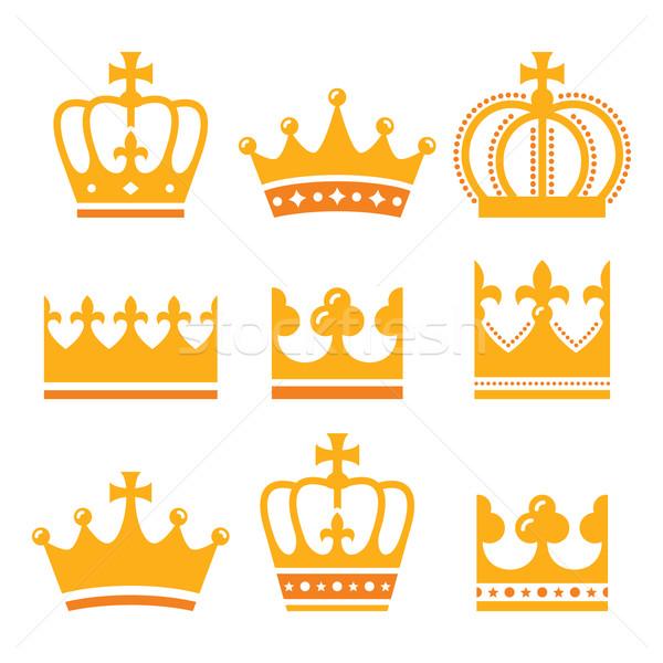 Coroa real família ouro rei Foto stock © RedKoala