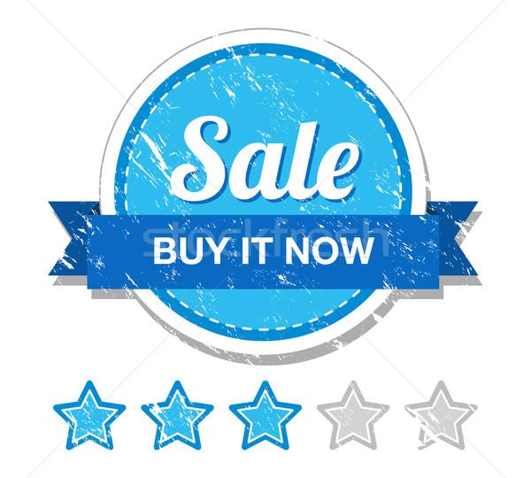 Stock photo: Sale vintage label