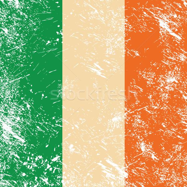 Ireland retro flag Stock photo © RedKoala