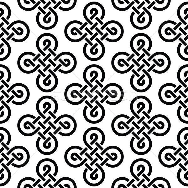 Celtic Irish Knots Seamless Pattern Vector Background Vector