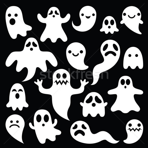 怖い 白 幽霊 デザイン 黒 ハロウィン ストックフォト © RedKoala