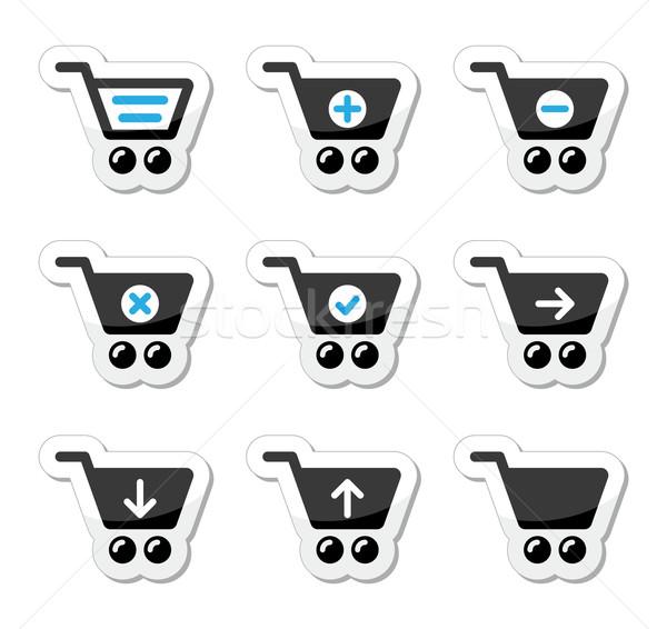 Stock photo: Shopping cart vector icons set