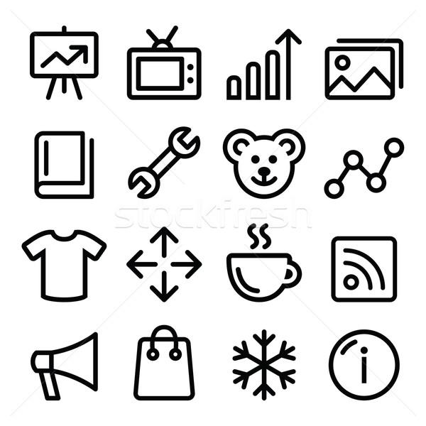 Web menu navigation line icons set - photo gallery, online store  Stock photo © RedKoala