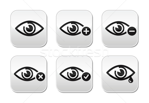 Eye sight buttons set - vector Stock photo © RedKoala