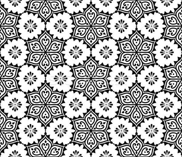 Indian seamless pattern, repetitive Mehndi design Stock photo © RedKoala