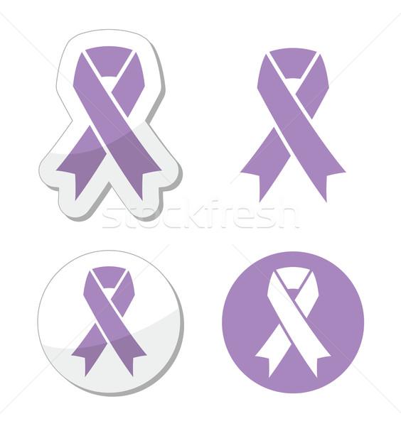 Lavendel lint algemeen kanker bewustzijn syndroom Stockfoto © RedKoala
