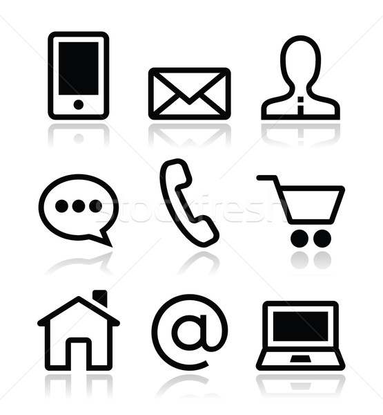 Contact web vector icons set  Stock photo © RedKoala