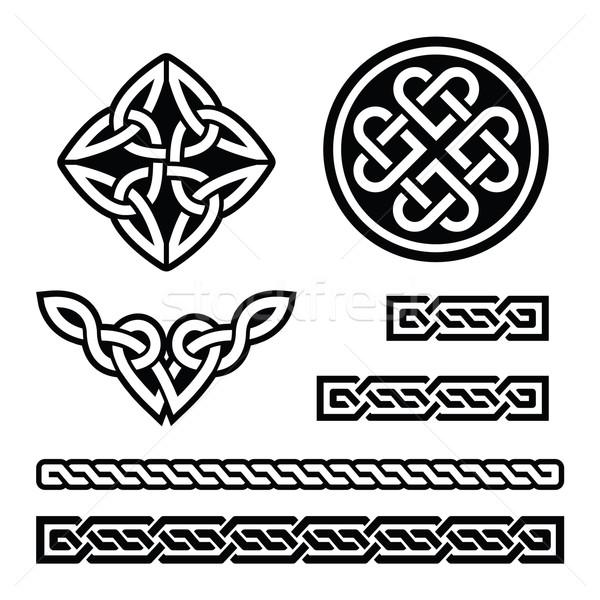 Kelta ír minták fonatok vektor Szent Patrik napja Stock fotó © RedKoala