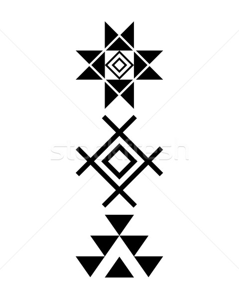 Navajo print, Aztec pattern, Tribal design, Native American Stock photo © RedKoala