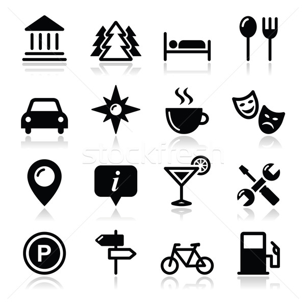 Travel tourism icons set - vector Stock photo © RedKoala