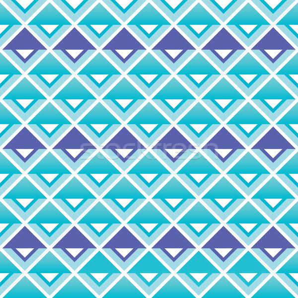 Tribal aztec blue and purple squares seamless pattern Stock photo © RedKoala
