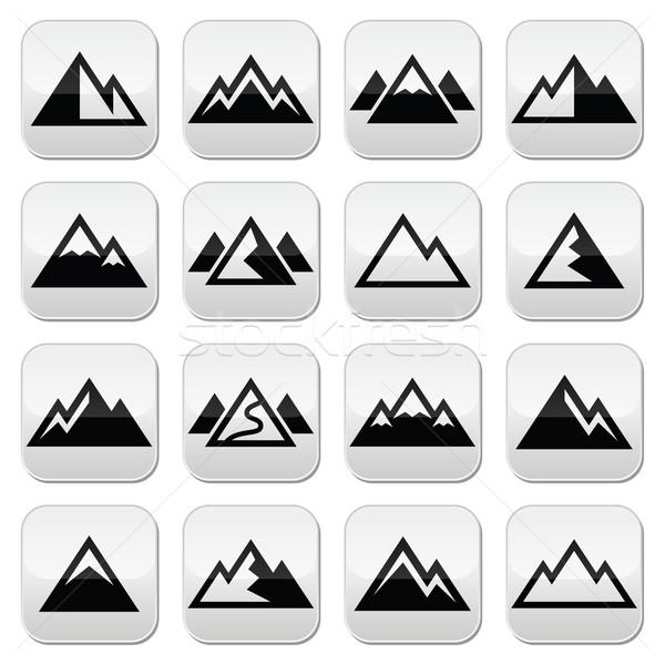 Mountain vector buttons set  Stock photo © RedKoala