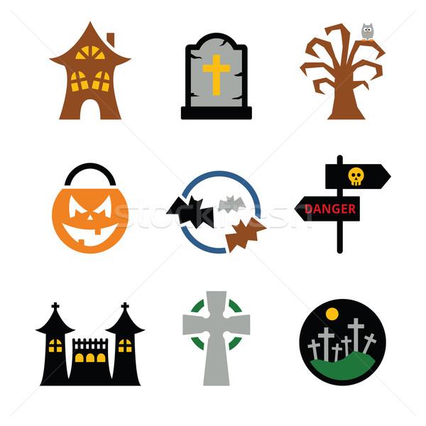 Halloween vector icons set  Stock photo © RedKoala