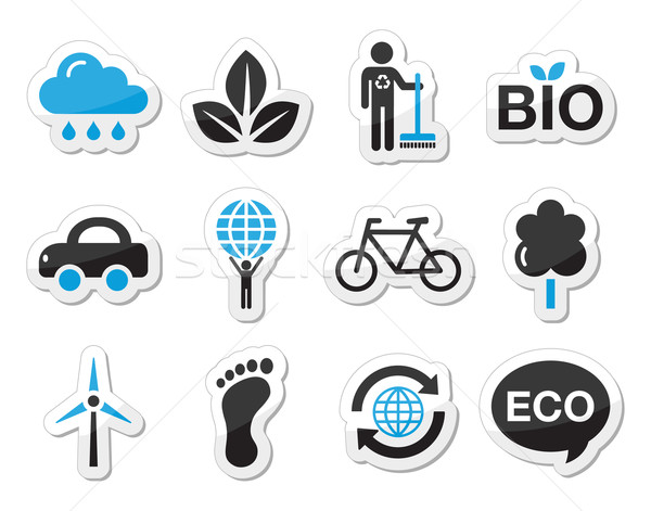 Stock photo: Ecology, green, recycling vector icons set