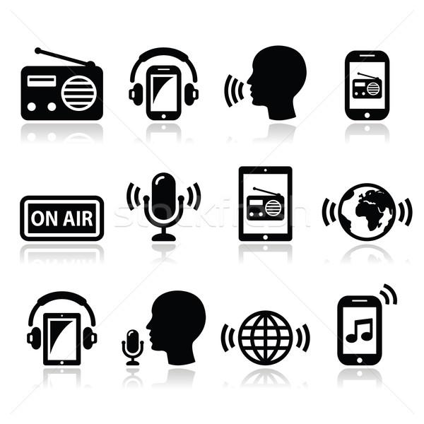 Radio podcast app smartphone tablet Foto d'archivio © RedKoala