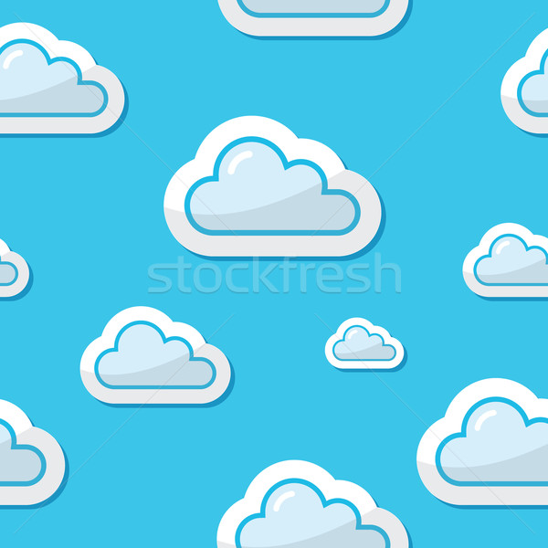 Seamless clouds on blue sky background, pattern Stock photo © RedKoala
