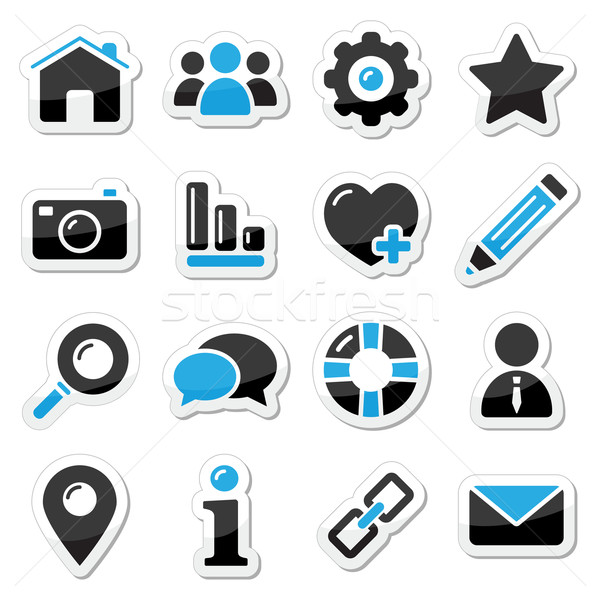 Web and internet icons set Stock photo © RedKoala