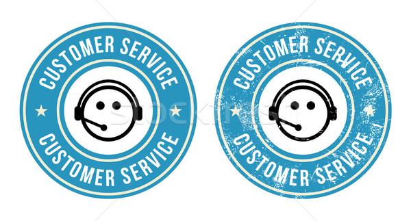 Customer service retro badges Stock photo © RedKoala