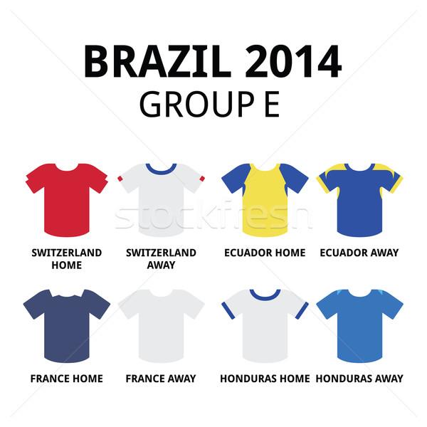 World Cup Brazil 2014 - group E teams football jerseys  Stock photo © RedKoala