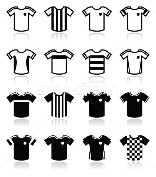 Football or soccer jerseys icons set  Stock photo © RedKoala