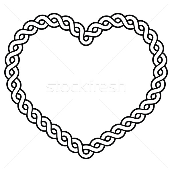 Celtic pattern heart shape - love concept for St Patrick's Day, Valentines   Stock photo © RedKoala