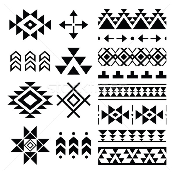 Navajo print, Aztec pattern, Tribal design elements   Stock photo © RedKoala