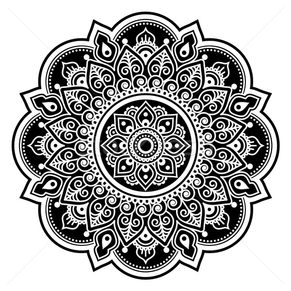 Mandala design, Mehndi, Indian Henna tattoo round pattern or background Stock photo © RedKoala