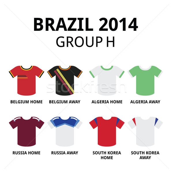 World Cup Brazil 2014 - group H  teams football jerseys  Stock photo © RedKoala