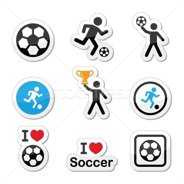 Stock fotó: Szeretet · futball · futball · férfi · rúg · labda