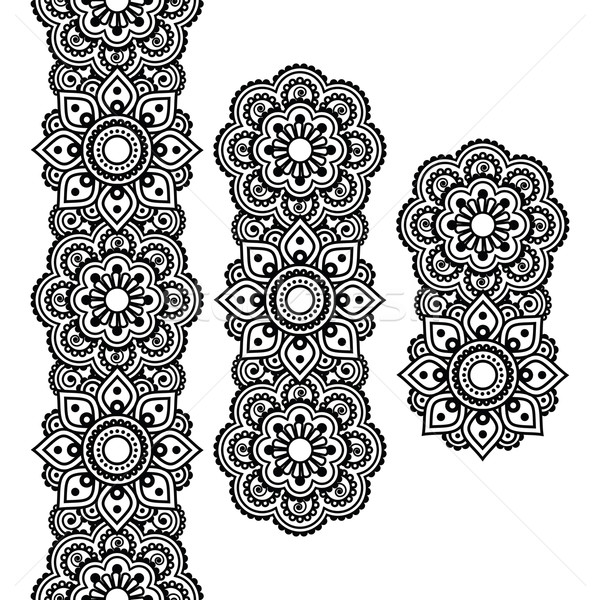 Mehndi, Indian Henna tattoo long pattern, design elements   Stock photo © RedKoala