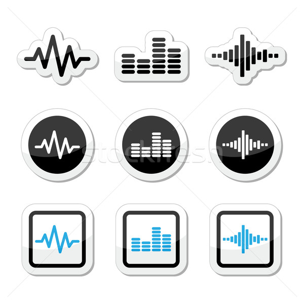 Soundwave music vector icons set  Stock photo © RedKoala