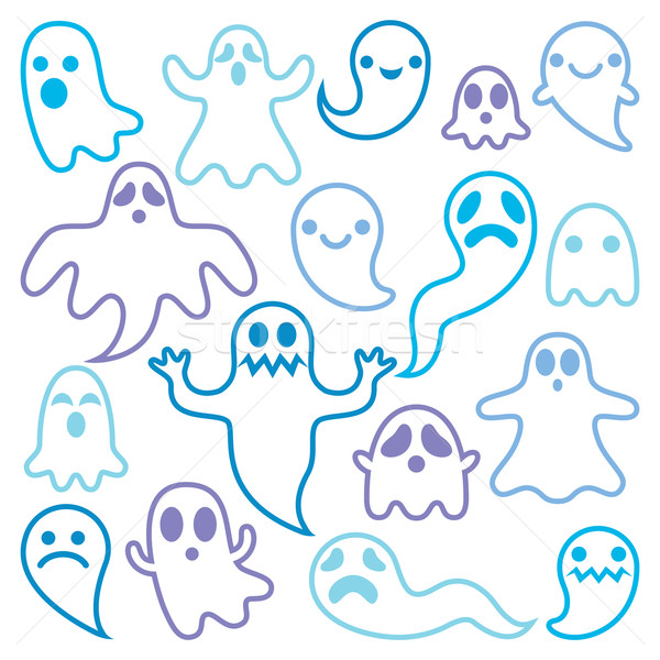 Scary ghosts design, Halloween characters  icons set Stock photo © RedKoala