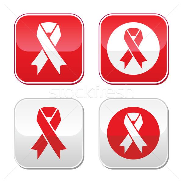Hulpmiddelen hartziekte teken Rood Stockfoto © RedKoala