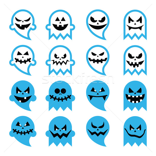 Halloween assustador fantasma espírito vetor Foto stock © RedKoala
