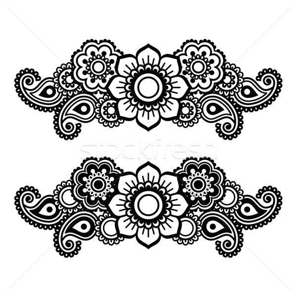 Mehndi, Indian Henna tattoo pattern or background   Stock photo © RedKoala