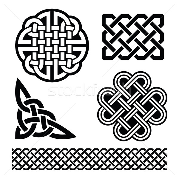 Celtic knots, braids and patterns - St Patrick's Day in Ireland Stock photo © RedKoala