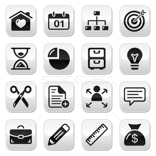 Internet web buttons set Stock photo © RedKoala