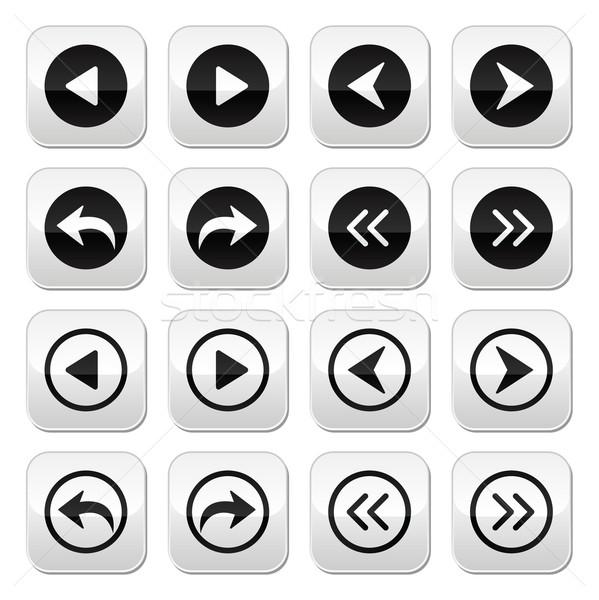 Previous, next arrows vector buttons set Stock photo © RedKoala