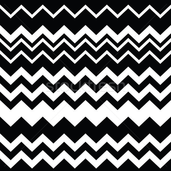 Tribal Aztec zigzag seamless black and white pattern   Stock photo © RedKoala