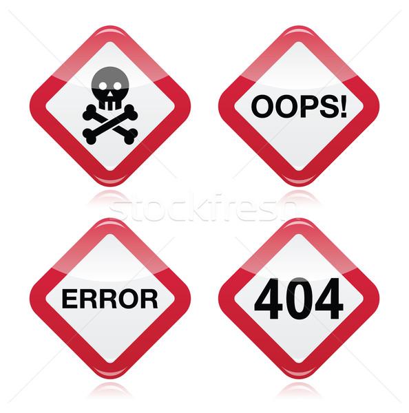 Peligro ups error 404 rojo Foto stock © RedKoala