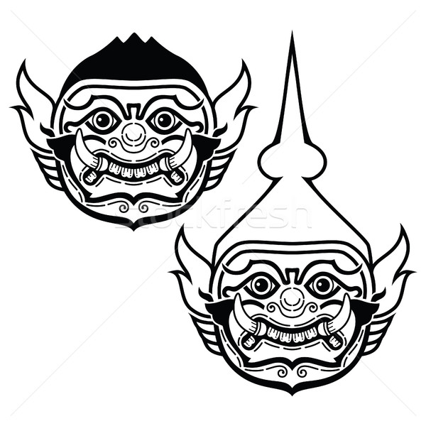тайский маске характер Dance драмы Сток-фото © RedKoala