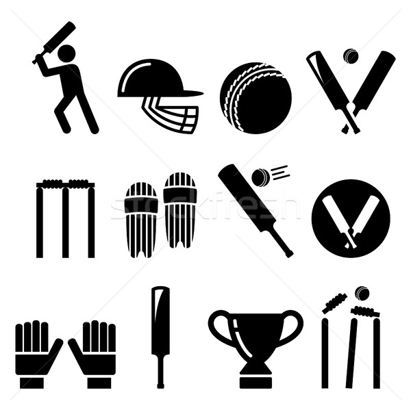 крикет Bat человека играет оборудование спорт Сток-фото © RedKoala